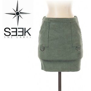 SEEK The Label Sage Green Mini Skirt size Small